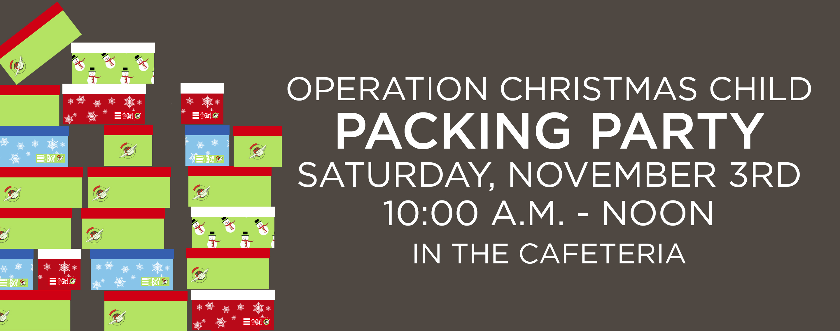 operation christmas child packing party - Operation Christmas Child Packing List