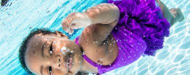 underwater baby