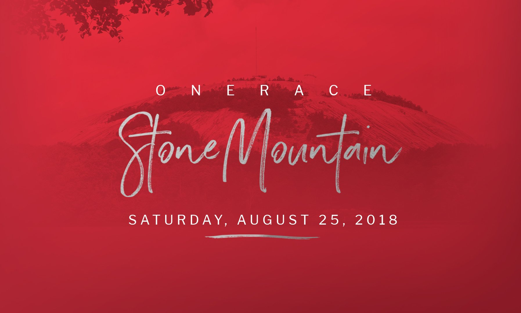 One race gathering at stone mountain